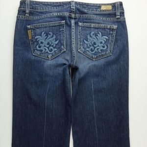 Paige Robertson Wide Full Flare Leg Jeans 29 A261J